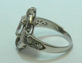 24cts Exceptional Antique Art Deco Marquise Diamond Engagement Ring