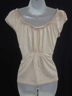 NWT ISDA & CO Pink Smock Neck Tee Shirt Blouse Top Sz S