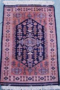 Antique Persian Vintage Hand Knotted wool Prayer RUG ft