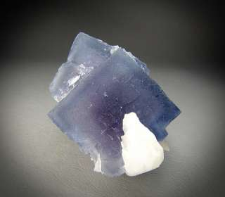 Purple Blue Fluorite with Barite, Fish Stick Claim, Bingham, New