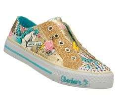 Skechers Girls Twinkle Toes Shoes Gold Unicorn Y 2 4 5