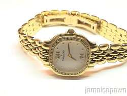 LADIES MOVADO DIAMOND WATCH 14k SOLID YELLOW GOLD ESTATE SALE