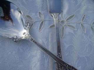 WALLACE STERLING ROSE POINT SUGAR SPOON/MASTER BUTTER KNIFE