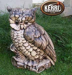 wetterfest Handarbeit Keramik Eulen Uhu Gartendeko Kerri keramik