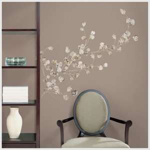 SILVER DOLLAR BRANCH WALL DECALS Eucalyptus Tree Branches Decor