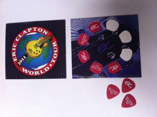 ERIC CLAPTON 2011 TOUR GUITAR PICK PACK