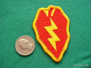 US ARMY 25TH INFANTRY DIVISION MILITARY SHIRT ARM PATCH
