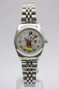 New Disney Mickey Mouse Silver Collectible Watch MCK807