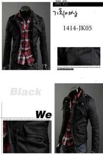 Mens Slim Designed Fit Premium Coat Jacket 3 colors
