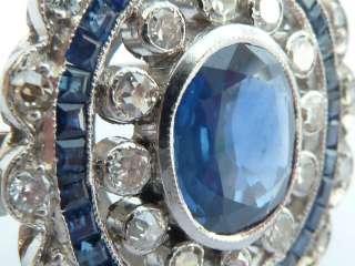 Vintage 18ct Gold Blue Sapphire & Diamond Ring UK M or US 6 *208
