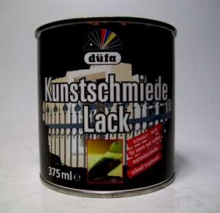 Düfa Kunstschmiede Lack Schwarz matt 0,375l mattlack schmiedelack