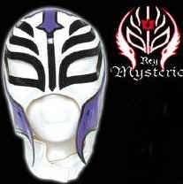 Billig Masken Shop   Original WWE Maske Rey Mysterio weiss purple mask