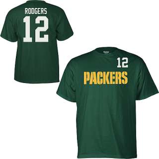 Green Bay Packers Aaron Rodgers High Density Jersey T Shirt sz Large