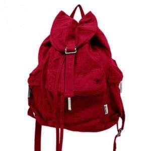 NEW Red Girls Canvas Backpack Handbag Bags Purse FB15c |