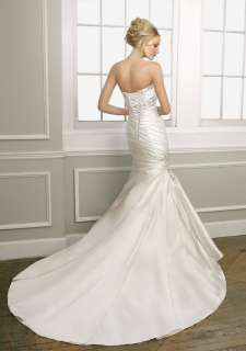 Ivory Sexy Mermaid Style Bridal Wedding Dress Gown Custom size