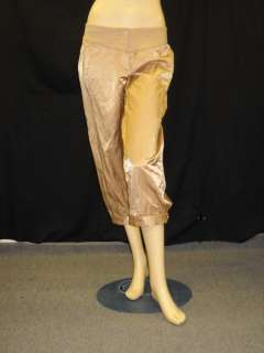 NWT TRACY REESE Raffia Cropped Satin Pants 6 $298
