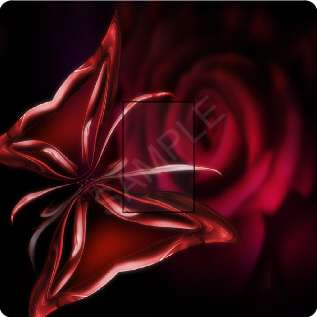 artistic red rose butterfly light switch cover