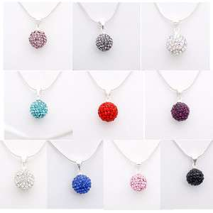 Crystal Disco Ball Pendant Necklace Charm Necklace Free