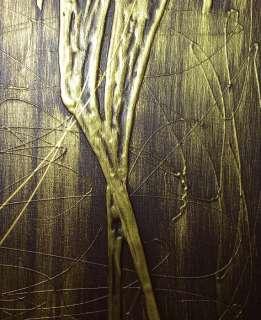 Kunst Malerei Abstrakt Deko Art Figuren Mensch Braun Gold XL