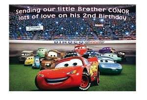 Personalised Disney Cars Birthday Card Son Brother 2 3
