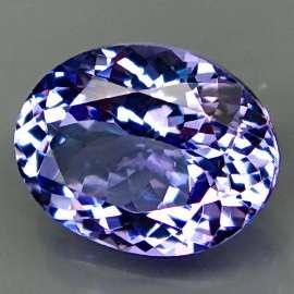 07Ct.Ravishing Color&Good Clarity BIG Purplish Blue Tanzanite Full