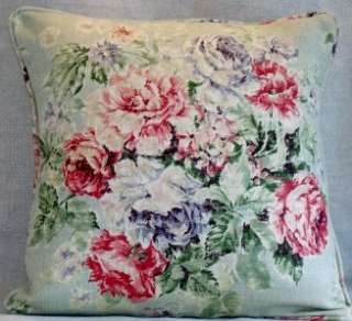 Sanderson WEYBRIDGE Floral Duck egg Linen Cushion Pillow Cover
