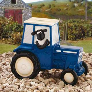 New In Box Shaun The Sheep Tractor MoneyBox Money Bank