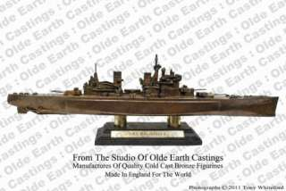 proud to present this cold cast bronze Battleship H.M.S King George V