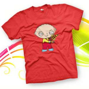 SHIRT STEWIE GRIFFIN PISTOLA family guy brian lois