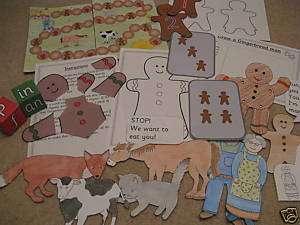 The Gingerbread man  teacher resource story sack games