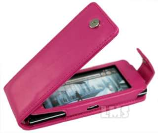 HOT PINK FLIP LEATHER CASE COVER FOR LG CHOCOLATE BL40