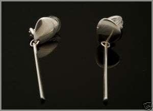 Georg Jensen Ear Clips PEBBLES # 445
