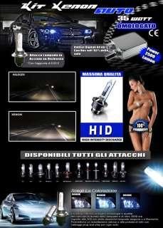 Kit Conversione Xenon Hid per auto e moto H7 6000K 6000 K xeno tuning