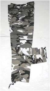 Pantalon Treillis BDU M65 Camouflage Urban Blanc T.52