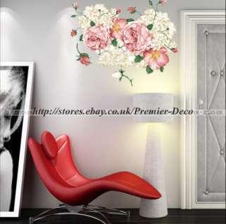 Peony Flowers on Big Sumptuous Peony Flower Tree Bedroom Living Room Wall Deco Sticker