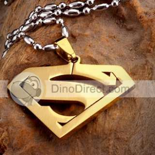 Wholesale Mens Steel Superman Logo Pendant Necklaces   DinoDirect