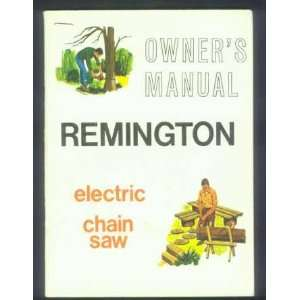 Remington Electric Chain Saw Manual El2 El4 1973: Patio