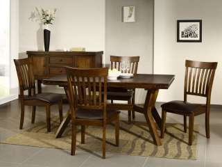 Cuba dark wood furniture dining table and chairs set