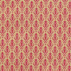 Doll House  Wallpaper Victorian  Red on Gold h81