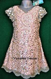 MONSOON Pink ANYA Gold Sequin Beaded Dress  FREE POST!