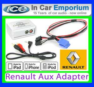 Clio AUX iPod iPhone MP3 player Renault iPod iPhone adapter interface