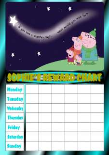 PERSONALISED PEPPA PIG SHOOTING STAR REWARD CHART