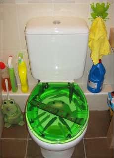 FROG TOILET SEAT   transparent polyresin   novelty fun!