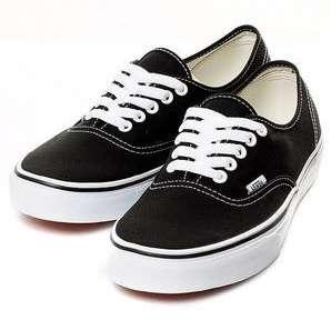 Vans Shoes Authentic Low Black Man Woman Sz3~12 NIB