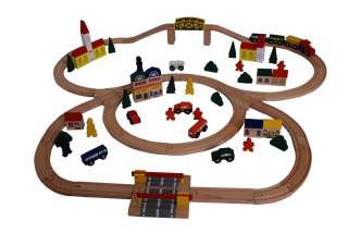Brand New 100 pc Wooden Toy Train set Compatible with Major Brands