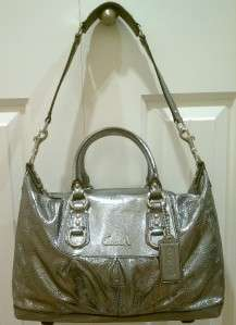 NWT COACH ASHLEY PERFORATED LEATHER SATCHEL BAG #F17130