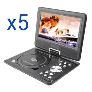 PORTABLE CAR DVD PLAYER USB & SD GAME AV IN & OUT FM TV RADIO
