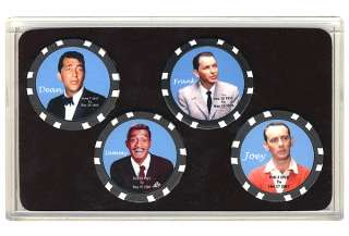 Rat Pack Collector Poker Chip Set Frank Sinatra Dean *
