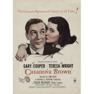 GARY COOPER and TERESA WRIGHT in CASANOVA BROWN with Frank Morgan