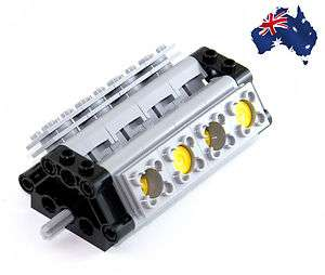 LEGO TECHNIC COMPLETE V8 ENGINE, PISTONS and PARTS